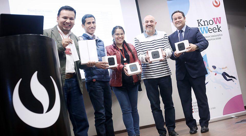 Se premia a los ganadores del Ranking Docente Digital 2018