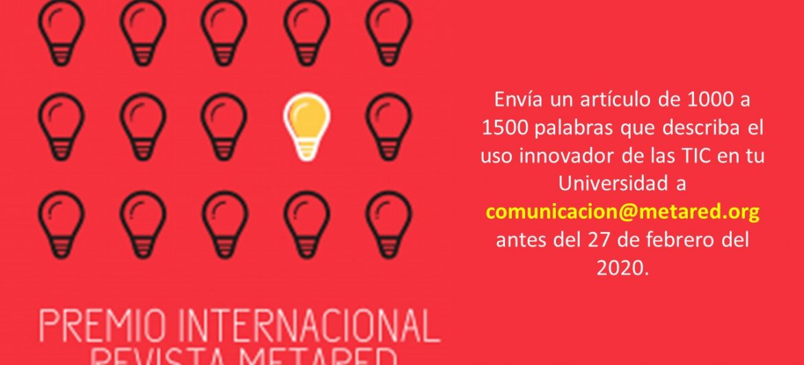 ¡Participa y gana! – Premio Internacional Revista MetaRed