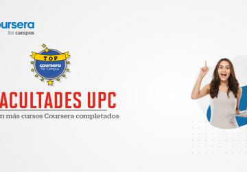 Facultades de la UPC con más cursos Coursera completados